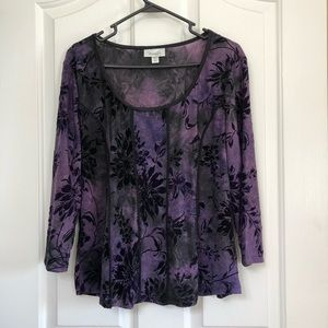 Beautiful purple blouse by Dress Barn size XL